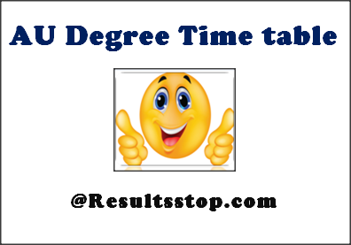 AU Degree Time Table, AU Time Table, Andhra University Degree exam dates