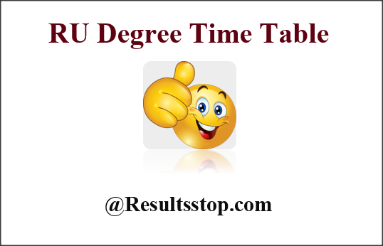 Rayalaseema University degree time table, RU Degree time table