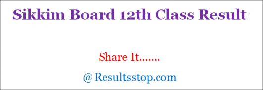 Sikkim Board 12th Result
