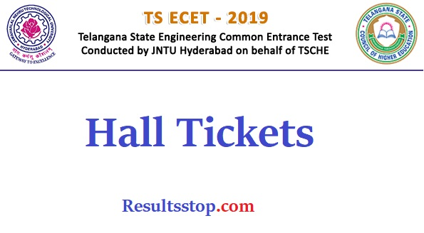 ts ecet 2019 hall tickets, ts ecet hall tickets 2019