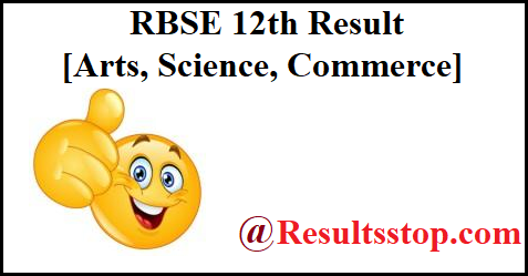 rbse 12th result 2019 science, rbse 12th result 2019 arts, rbse 12th result 2019 name wise, rbse 12th result 2019