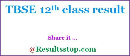 TBSE 12th result 2020, Tripura Board HS Results 2020