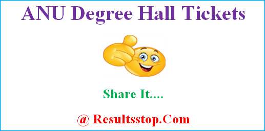 ANU Hall Tickets, Manabadi ANU Degree Hall Tickets
