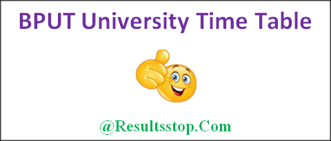 BPUT University Time Table 2018, BPUT University BA, B.sc, B.com, M.A, M.Com, M.Sc Time Table, BPUT Time Table