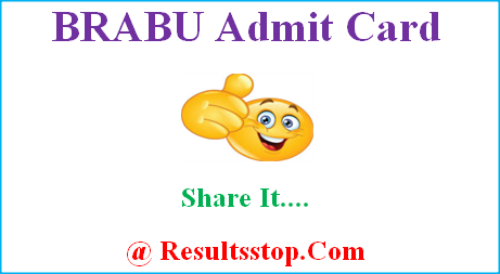 BRABU Admit Card, BRABU part 1st 2nd 3rd year Admit Card, Bihar university hall ticket