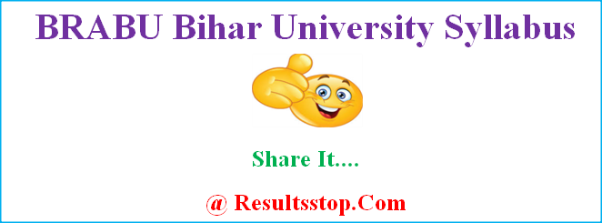 BRABU Bihar University Syllabus, BRABU Syllabus, BRABU Bihar University Muzaffarpur Syllabus book
