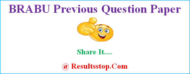 BRABU Previous Question Paper, BRABU guess Paper, Bihar University Previous year Question Paper