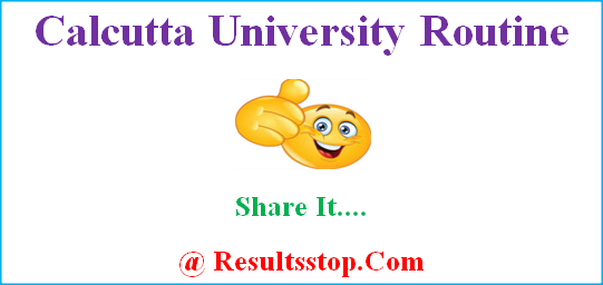 Calcutta University Routine, CU routine, Calcutta University exam schedule