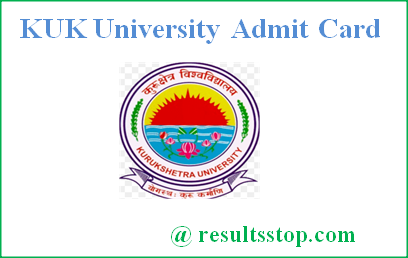KUK University Admit Card 2018, KUK Admit Card 2018, Kurukshetra University Admit Card