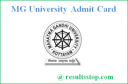 MG University Admit card 2018, Mahatma Gandhi University Admit Card 2018, MGU Admit Card 2018