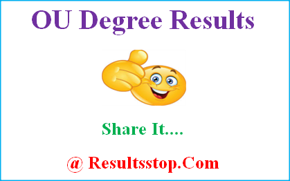 OU Degree Results, OU Results, manabadi OU Degree Results