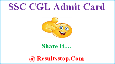 SSC CGL Admit Card, SSC CGL Tier-1 hall ticket