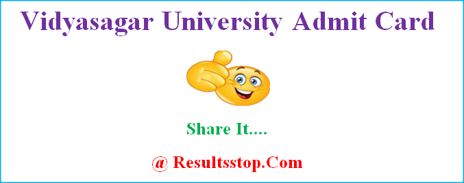 Vidyasagar University admit card, Vidyasagar University exam hall ticket