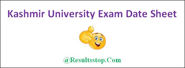 Kashmir University Exam Date Sheet 2018, Kashmir University B.Sc, B.Com, B.A Exam Date Sheet 2018, Kashmir University Degree Exam Date Sheet