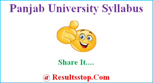 Panjab University Syllabus, www.puchd.ac.in syllabus, punjab university syllabus 2018-19, panjab university chandigarh syllabus