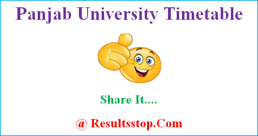 Panjab University Timetable, Panjab University date sheet, Panjab University exam routine