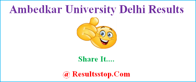 Ambedkar University Delhi Results, AUD Result, aud.ac.in result
