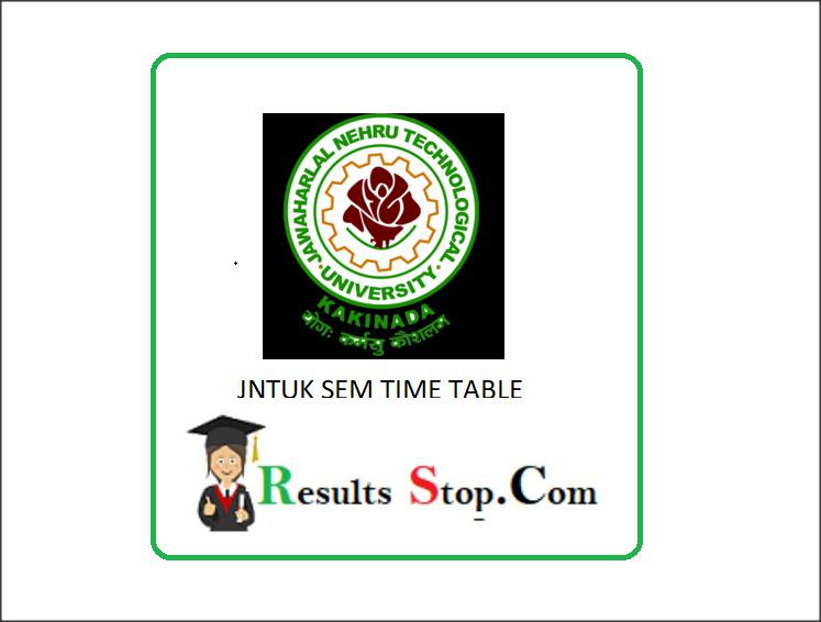 JNTUK 4-2 Sem Time table