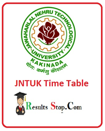 JNTUK Time Table 2020