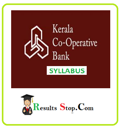 Kerala cooperative Bank syllabus 2020