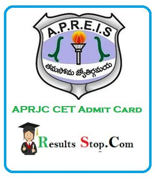 APRJC CET Admit Card
