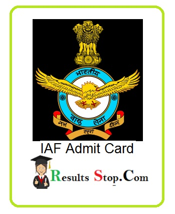 IAF Group X Y Admit Card 2020