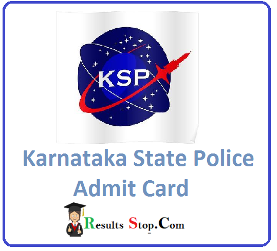 KSP Scientific Officers Admit Card