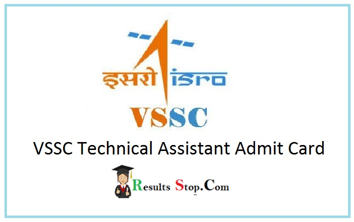 VSSC Technical Assistant Admit Card