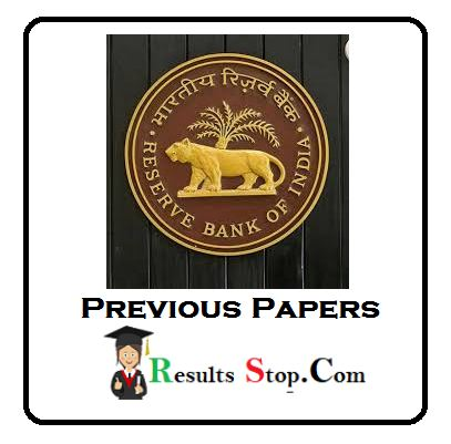 RBI Previous Papers Download