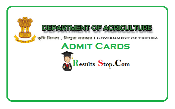 Tripura Agriculture Department Assistant Admit Card