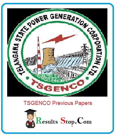 TSGENCO Previous Papers 2020