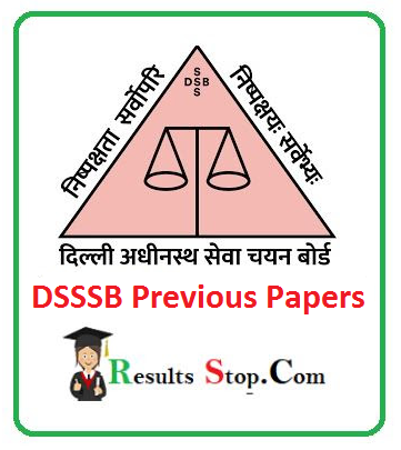 DSSSB Previous Papers