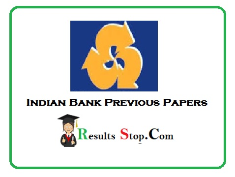 Indian Bank Previous Papers