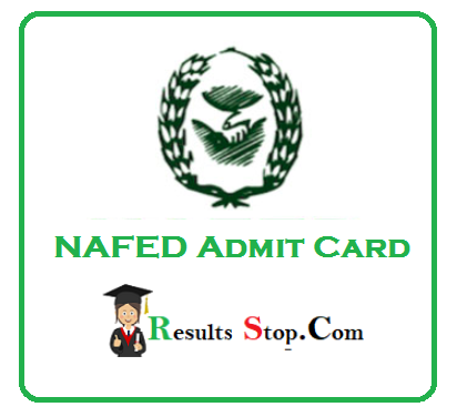 NAFED Admit Card 2020