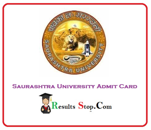 Saurashtra University Admit Card