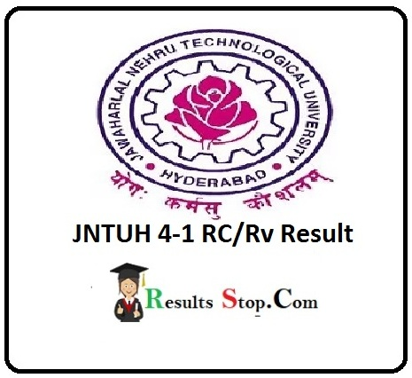 JNTUH 4-1 RC/Rv Result