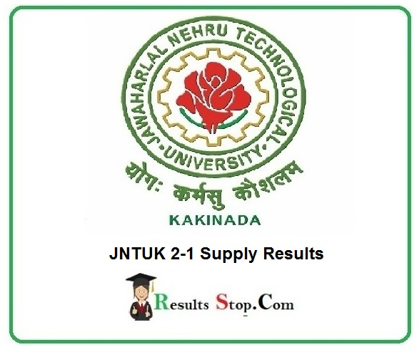 JNTUK 2-1 Supply Results