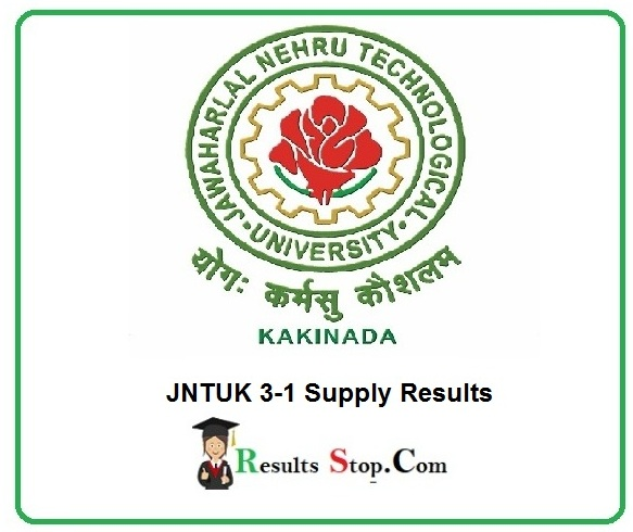 JNTUK 3-1 Supply Results