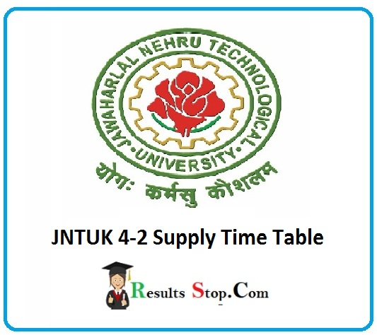 JNTUK 4-2 Supply Time Table
